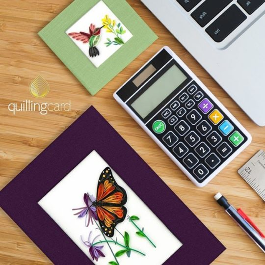 monarch butterfly quilled journal styled