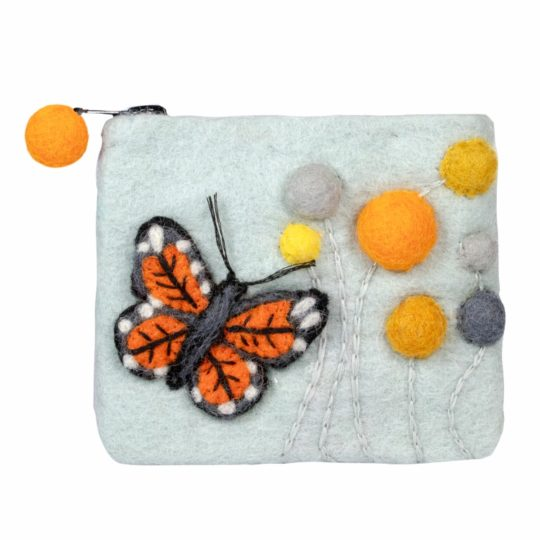 monarch felt coin purse