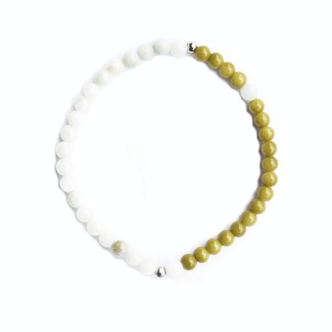 morse code bracelet joy lime light green