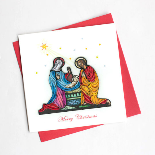 nativity scene quilling card