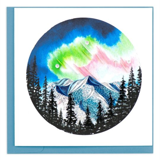 northern lights quilling card