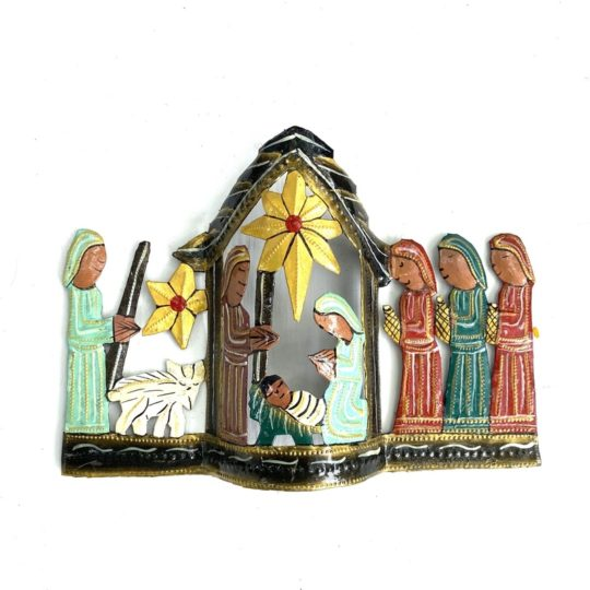 oil drum nativity green and red