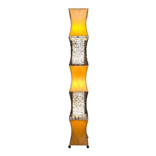 pagoda cocoa giant lamp orange