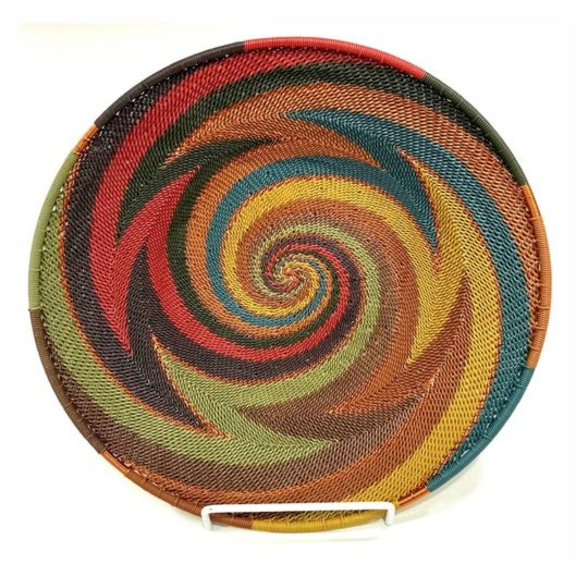 painted desert telephone wire mini platter