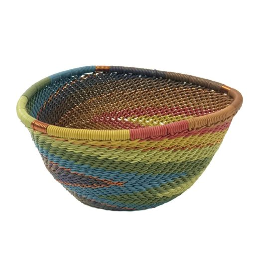 painted desert telephone wire triangle bowl