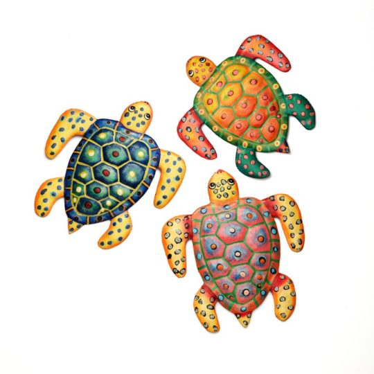 painted oil drum sea turtles