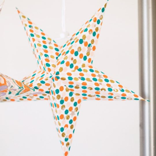 peach fizz paper star lantern mini