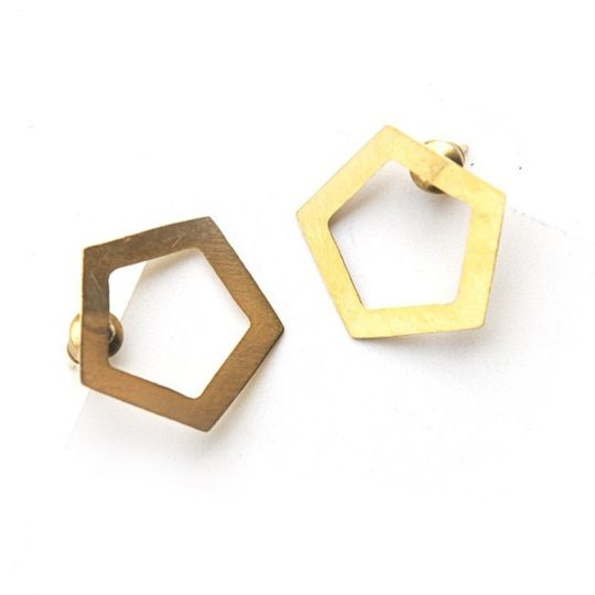 pentagon studs brass