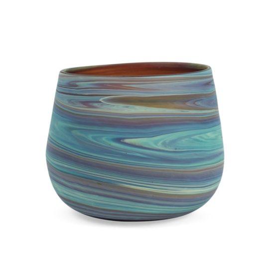 phoenician glass candleholder dark