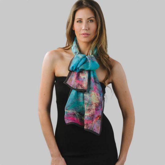 printed lavender floral scarf