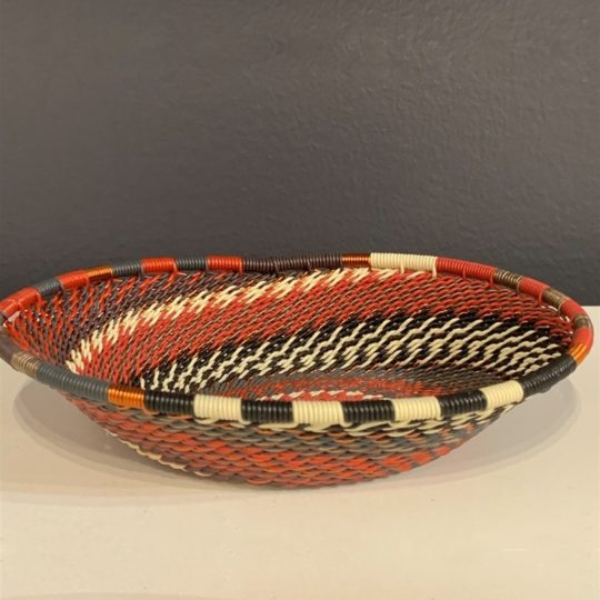 red pepper telephone wire oval bowl