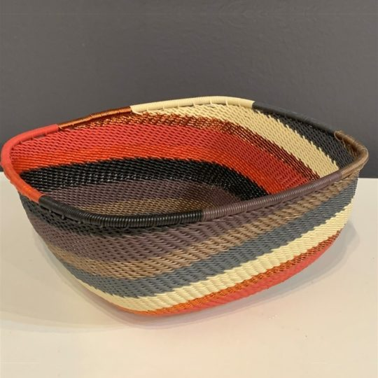 red pepper telephone wire square bowl