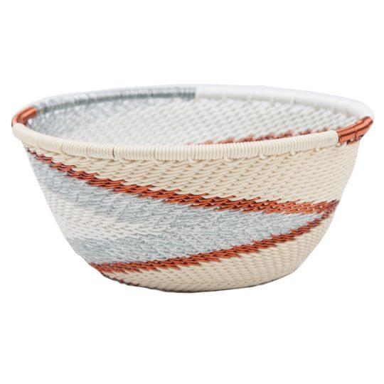 silver sea telephone wire small bowl