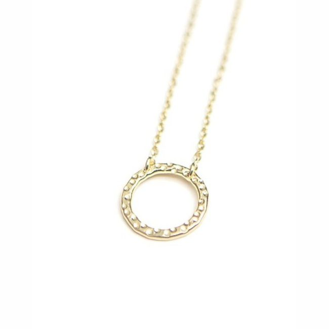 simple circle necklace brass