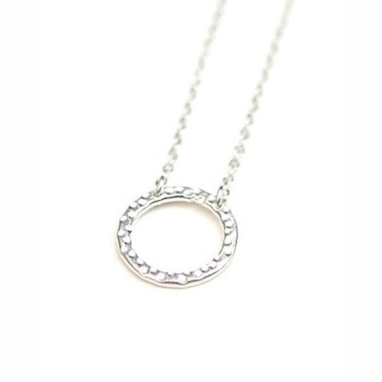 simple circle necklace silver