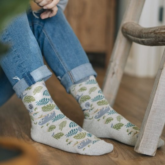 socks that save sloths styled