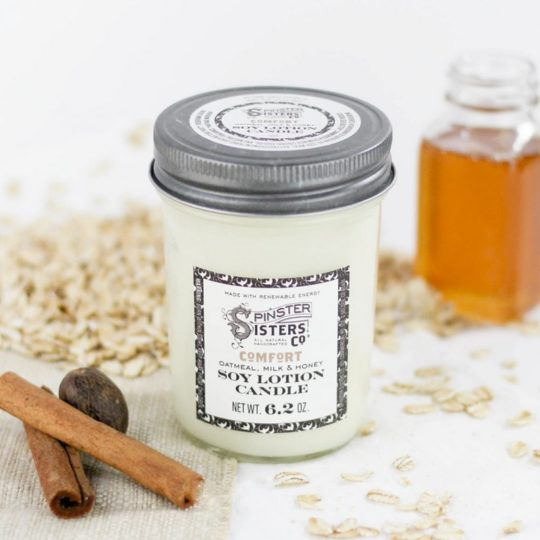 soy lotion candle comfort styled