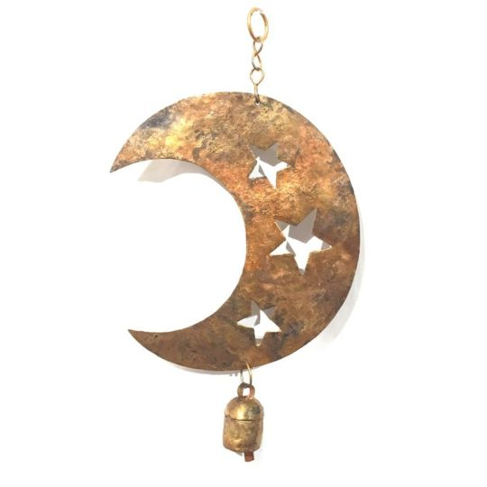 star cut moon chime