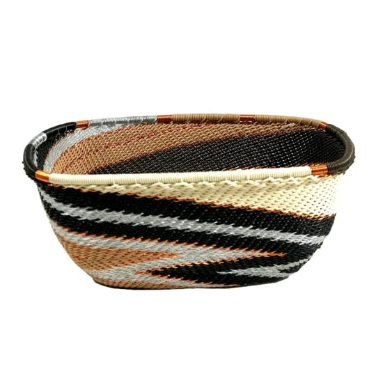 telephone wire square bowl mocha