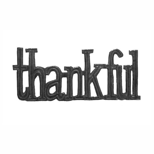 thankful oil drum sign
