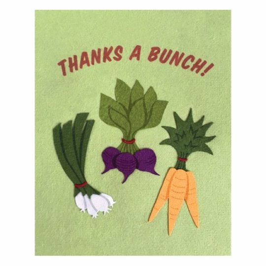 thanks a bunch veggie card