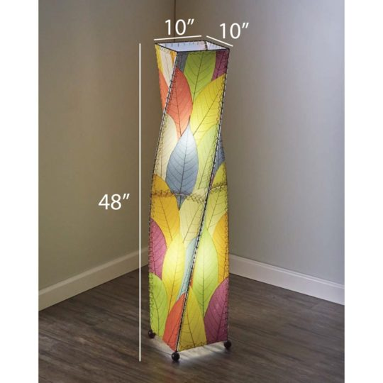 twist leaf floor lamp