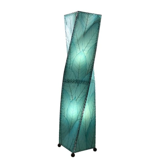 twist leaf floor lamp blue