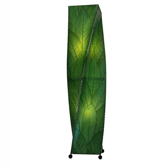 twist leaf floor lamp green