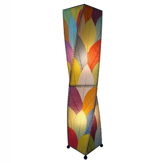 twist leaf floor lamp multi