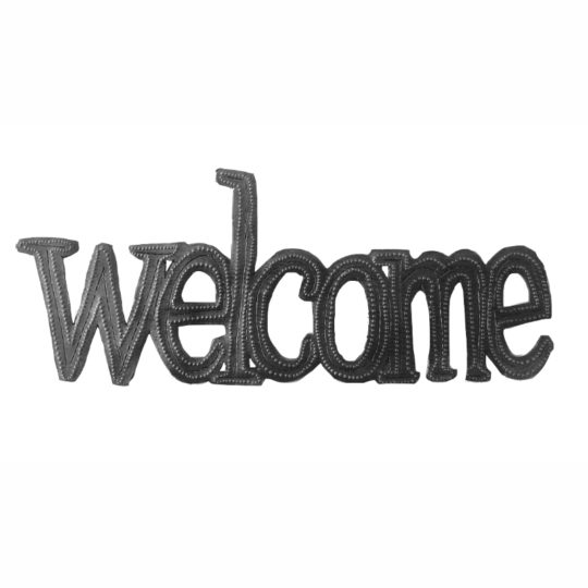 welcome oil drum sign