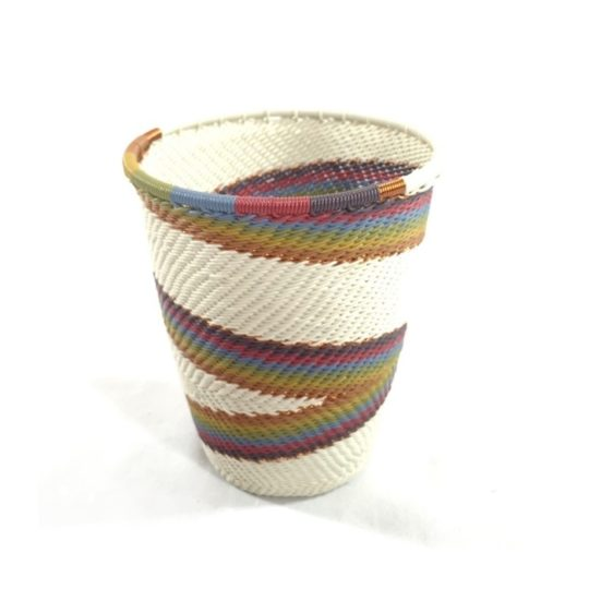 white desert telephone wire cup