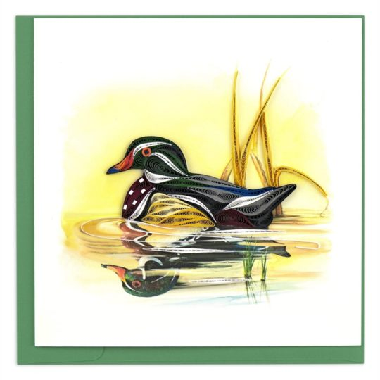wood duck quilling card