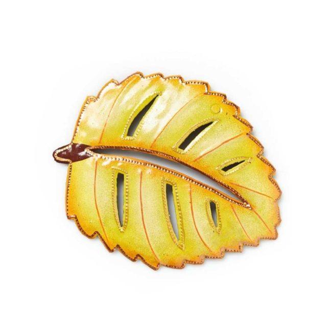 yellow elm metal leaf