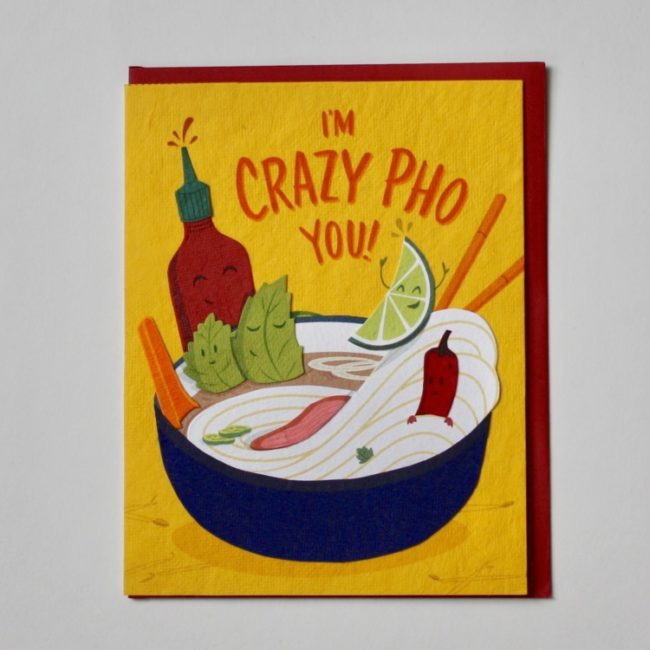 crazy pho you love card