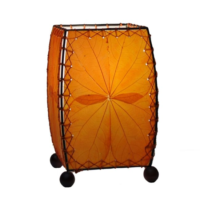 orange eangee leaf lamp mini