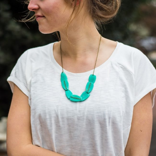 scattered pebble tagua necklace