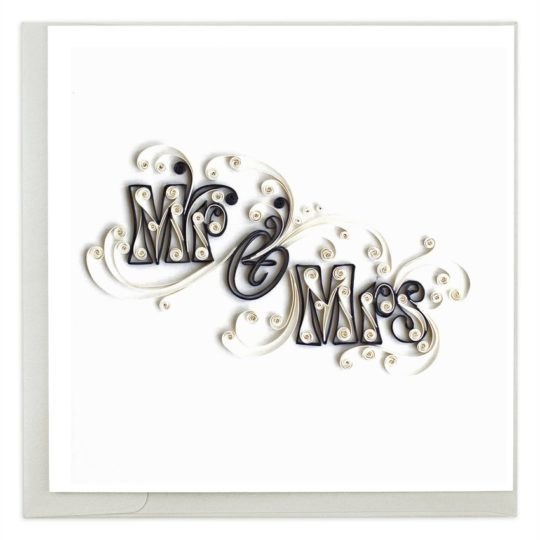 mr mrs quilling card