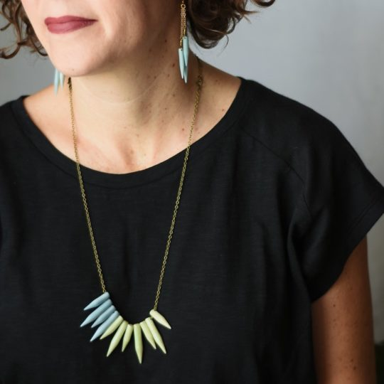 brooklyn tagua necklace