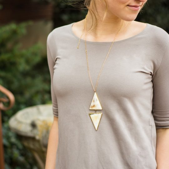 bullhorn double arrowhead necklace