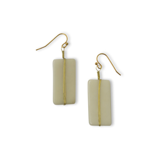 astrid earrings ivory