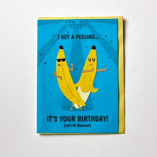 bananas bday card