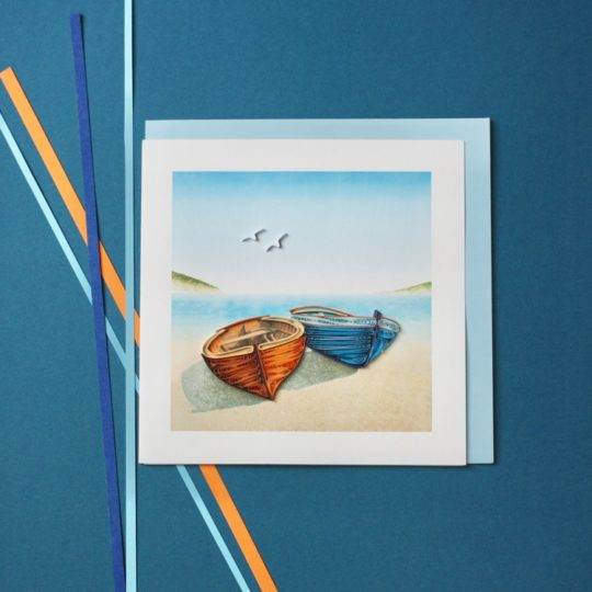 boats quilling card styled
