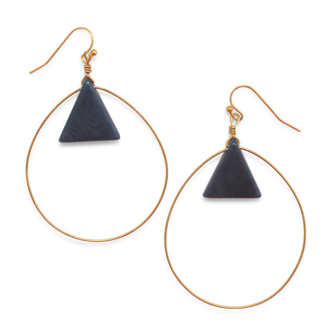 cartagena earrings indigo