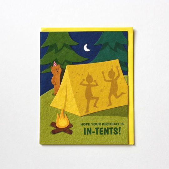 in tents bday card