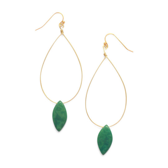 palermo earrings emerald
