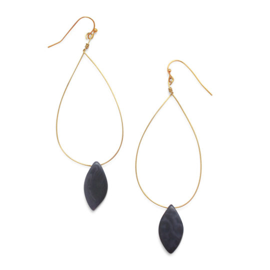 palermo earrings indigo