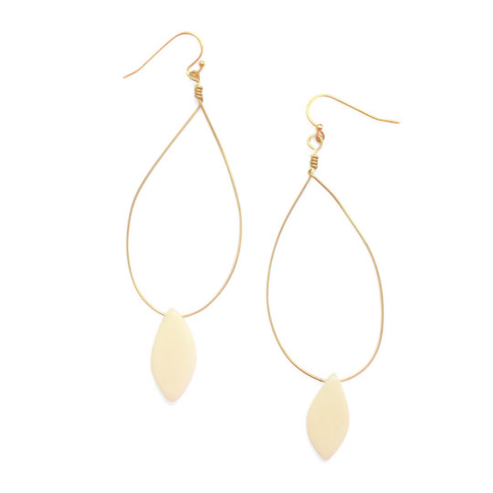palermo earrings ivory