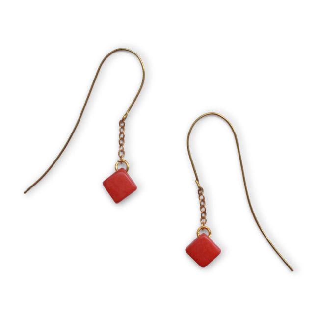 santiago earrings coral