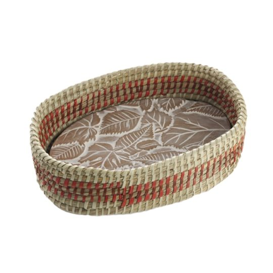 fall leaves bread warmer basket