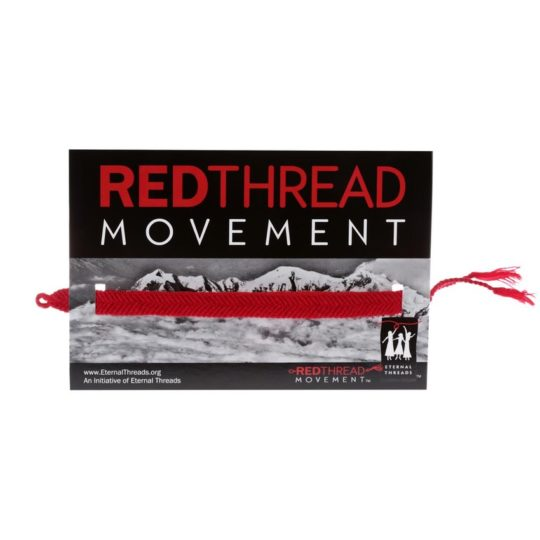red thread bracelet card